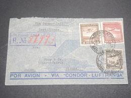 CHILI - Enveloppe En Recommandé De Santiago Pour La Suisse En 1941 Via Condor , Affranchissement Plaisant - L 12046 - Chile