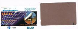 BOLIVIA - ENTEL (TAMURA) -  1990  EARTH STATION IDR, SANTA CRUZ  - USED  -  RIF. 351 - Bolivia
