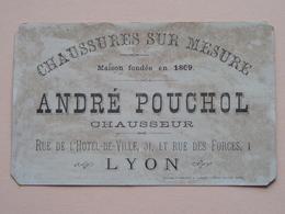 André POUCHOL Chaussures Sur Mesure - 31 Rue De L'Hôtel De Ville - LYON ( Chromo / Prent - Zie Foto's Voor Detail ) ! - Publicités