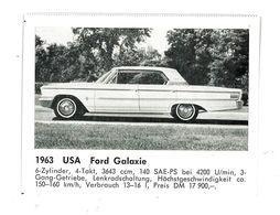 CHROMO IMAGE AUTOMOBILE 1963 USA FORD GALAXIE - Vieux Papiers