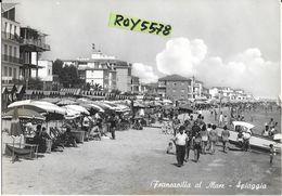 Abruzzo-chieti-francavilla Al Mare Spiaggia Animatissima Panoramica Veduta Spiaggia Affollatissima - Italie