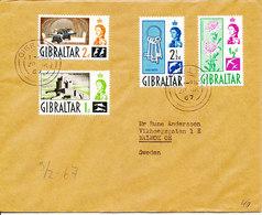 Gibraltar Nice Cover Sent To Sweden 28-1-1967 - Gibraltar