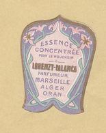 Etiquette Parfum Essence Concentrée ... Lorenzy-Palanca Parfumeur MARSEILLE-ALGER-ORAN Format : 3,2 Cm X 4 Cm Sup.Etat - Etiquettes