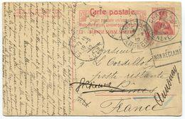 1756 - NON RÉCLAMÉ Auf 10 Rp. Ganzsachen-Postkarte Von CHÂTELAINE (GENÈVE) Nach Frankreich - Ganzsachen