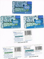 NORVEGIA (NORWAY) - TELENOR / TELENOR MOBILE (RECHARGE GSM) -  RING KONTANT,  LOT OF 3 DIFFERENT - USED °  -  RIF. 3929 - Norway