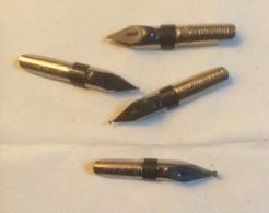 Lot De 4 Plumes Neuves Blanzy  :  N° 0,5 - 1 - 1,25 - 2 - Pens