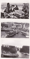 L'arrivéedu Vapeur GUEDEL/Fortin Et Musée BELLE-ILE-en-Mer Morbihan Lot De 3 Cartes N°ma9 - Belle Ile En Mer