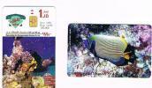 GIORDANIA (JORDAN) - ALO  (CHIP) - 1998 UNDERSEA TREASURES OF AQABA  EXP.12.99 - USED  -  RIF. 663 - Jordan