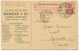 1757 - 10 Rp. Ausland-Postkarte Mit Privatzudruck Der Firma Danzas & Cie, Transports Internationaux, Bale - Ganzsachen
