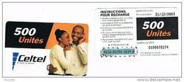 MALAWI   - CELTEL (GSM RECHARGE) - COUPLE  500   EXP. 12.03    - USED  -  RIF. 797 - Malawi