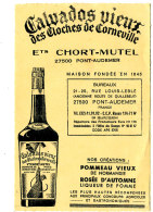AN 223/ ETIQUETTE    CALVADOS VIEUX  DES CLOCHES DE CORNEVILLE ETS CHORT-MUTEL PONT-AUDEMER - Labels