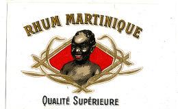 AN 227/ ETIQUETTE     RHUM   MARTINIQUE  QUALITE SUPERIEURE - Rhum