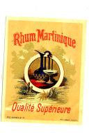 AN 234 / ETIQUETTE    RHUM     MARTINIQUE  QUALITE SUPERIEURE - Rhum