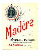 AN 238 / ETIQUETTE     MADERE  NIVELLE FRERES  LA FLECHE (SARTHE) - Labels