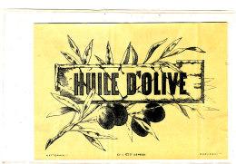 AN 254 / ETIQUETTE     HUILE D'OLIVE - Labels