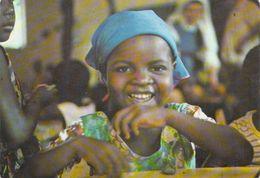 """(Centrafrique) République CENTRAFRICAINE CENTRE AFRICAINE- """"AFRIQUE-BOSSANGOA""""(fillette Jeune Fille Sourire) *PRIX FIXE - Central African Republic"""