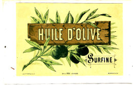 AN 255 / ETIQUETTE     HUILE D'OLIVE SURFINE - Labels