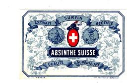 AN 257 / ETIQUETTE     ABSINTHE  SUISSE QUALITE SUPERIEURE - Labels