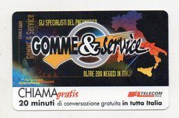 Telecom - Scheda Chiama Gratis - 2000 - GOMME & SERVICE - 20 Minuti Di Conversazione Gratuita - NUOVA - (FDC7581) - [2] Sim Cards, Prepaid & Refills