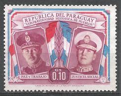 Paraguay 1955. Scott #487 (M) Presidents Alfredo Stroesssner And Juan D. Peron - Paraguay
