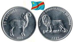 Congo - 25 Centimes 2002 (Ram - UNC) - Congo (République Démocratique 1998)