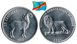 Congo - 25 Centimes 2002 (Ram - UNC) - Congo (Democratic Republic 1998)