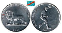 Congo - 50 Centimes 2002 (Foot - UNC) - Congo (République Démocratique 1998)