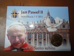 Poland Pologne 2011: Pope John Paul II, Santo Subito, Blister With Coin 2 Zl NG Mint - Pologne