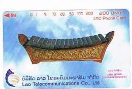 LAOS  - LTC  (TAMURA) - 1998 LAO MUSICAL INSTRUMENTS: A BASS GAMELAN      - USED -  RIF. 1977 - Laos