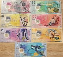 C) MALDIVES BANK NOTES 7PC SET UNC ND 2015 - 2017 - Maldiven