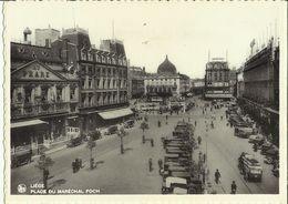 Liége -- Place  Du  Maréchal  Foch.   ( 2 Scans ) - Liege