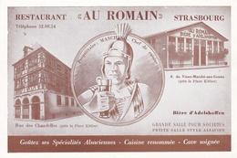 """CPSM   De  STRASBOURG  (67)  -  Restaurant  """"AU  ROMAIN""""    //   TBE - Strasbourg"""