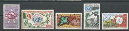 MALI  Scott 9, 35, 38-39, C11 Yvert 9, 36, 39-40, PA11 (5) ** Cote 7,50$ 1960-62 - Mali (1959-...)