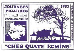CHES QUATE ECMINS / 1983 / JOURNEES PICARDES - Autocollants