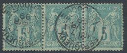 Lot N°39446  Bande De Trois N°75, Oblit Cachet à Date De PERIGUEUX (DORDOGNE) - 1876-1878 Sage (Type I)
