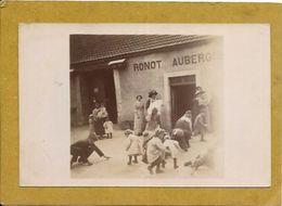 52. PRASLAY.  CARTE PHOTO.  EPICERIE MERCERIE AUBERGISTE RONOT - Autres Communes