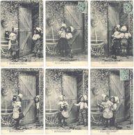 Fantaisies - Série 6 CPA – Pierrette … Maitre Colin  ( FA ) - Fantaisies