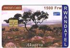 RWANDA  -   RWANDATEL (CHIP) -  AKAGERA      - USED  -  RIF. 831 - Rwanda