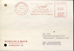 29852 Germany , Red Meter/freistempel/ema/ 1951 Hamburg Lysol, Circuled Card - Affrancature Meccaniche Rosse (EMA)