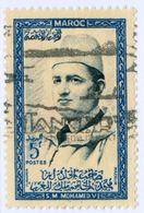 MAROCCO, MOROCCO, COMMEMORATIVO, SULTANO MOHAMMED V, 1956, FRANCOBOLLI USATI  Scott 1 - Marocco (1956-...)