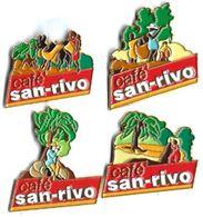 CAFE - C11 - SAN-RIVO - 4 Pin's - Verso : F.B. - Food