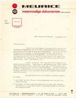 Factuur Facture - Brief Lettre - Meurice - Documenten - Braine Le Chateau - 1972 - Imprimerie & Papeterie