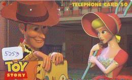 Télécarte *  DISNEY * Japon (110-011) TOY STORY  (5253) * JAPAN PHONECARD *  CINEMA FILM MOVIE KINO * - Disney