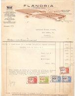 Factuur Facture - Flandria - Vanmaercke - Desmet - Tiegem 1946 - België