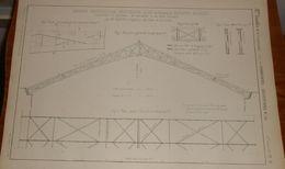 Plan D'une Grande Couverture Provisoire De La Glacière De Passy. 1858 - Public Works