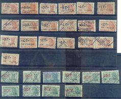 D600A-België  FISCALE ZEGELS  29 Stuks - Revenue Stamps
