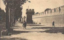 LA DOUCE FRANCE.30. AVIGNON . LES REMPARTS . AFFR DU 4 VII 1932 AU VERSO . 2 SCANES - Avignon