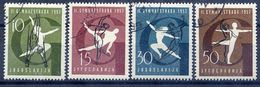 YUGOSLAVIA 1957 World Gymnastics, Used.  Michel 823-26 - 1945-1992 Socialist Federal Republic Of Yugoslavia
