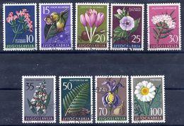 YUGOSLAVIA 1957 Flowers II, Used.  Michel 812-20 - 1945-1992 Socialist Federal Republic Of Yugoslavia