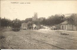 11  FABREZAN  Aude La Gare - Gares - Avec Trains